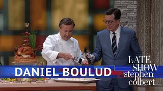 Daniel Boulud Serves Rooster Testicles To Stephen Colbert