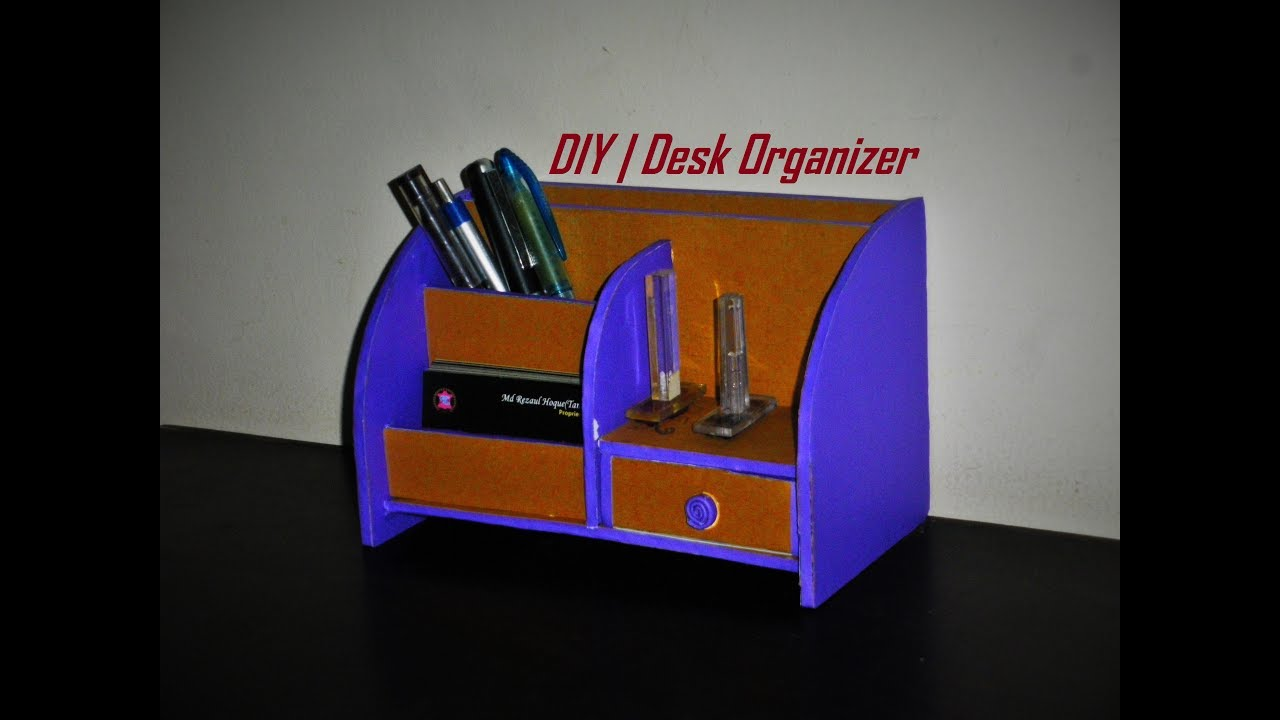 Diy Desk Organizer Diy Desk Organizer Made With Cardboard Room Decor Idea