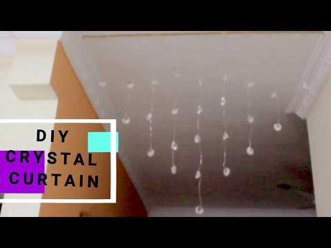 crystal glass beaded curtain,with danglers  DIY home decor
