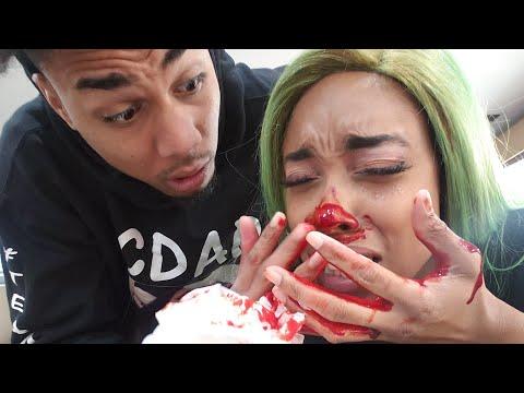 EXTREME BROKEN NOSE PRANK ON BF!!! BLOODY!!!