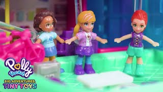 Polly Pocket 🌈❄️💜At the Movies🌈❄️💜Polly Pocket Toy Play 🌈💜Videos For Kids