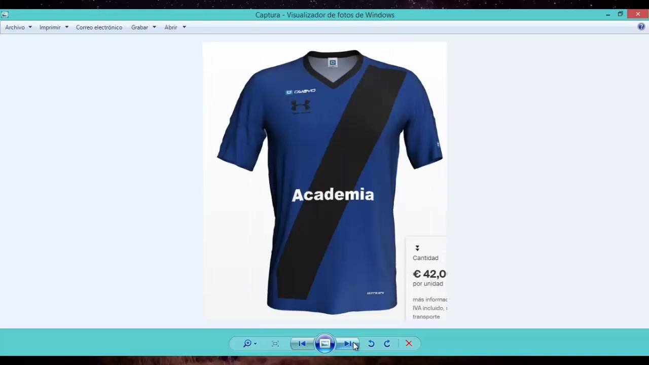 Como diseñar un uniforme de Fútbol  018837dc7b6a5