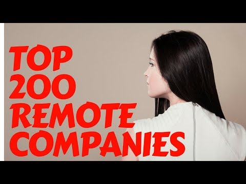 The Top 200 Companies for Remote Working Jobs