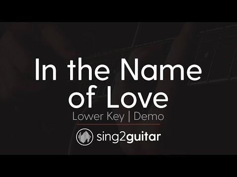 In The Name of Love (Lower Acoustic Guitar karaoke demo) Marin Garrix & Bebe Rexha