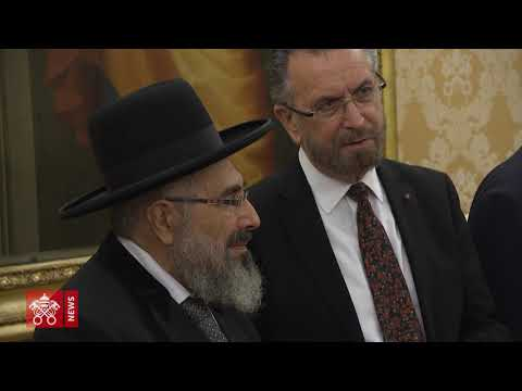 Pope Meets With Delegation Of Chief Rabbinate Of Israel