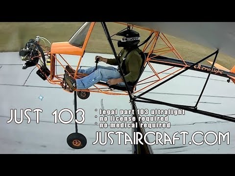Just Aircraft, Just 103 Solo, FAR Part 103 Legal Ultralight Aircraft.