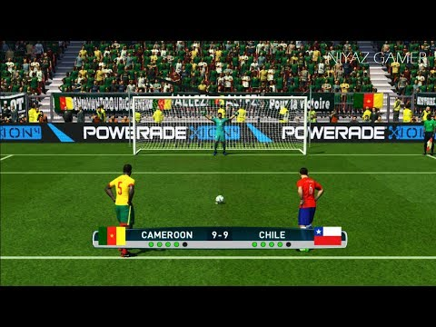 CAMEROON vs CHILE | Penalty Shootout | Confederations Cup | PES 2017 Gameplay
