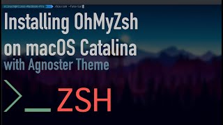 Gambar cover How to Install OhMyZsh on macOS Catalina with Agnoster Theme | Tutorial
