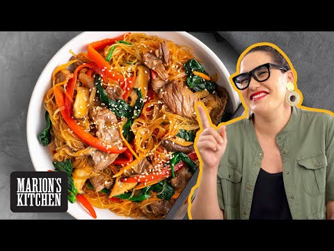 My EASY Korean Japchae Noodles - Marion's Kitchen
