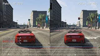 Grand Theft Auto 5: PS4 Frame-Rate Test - Patch 1.02 vs 1.09