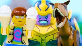 TOP 5 2018 LEGO STOP MOTION LEGO City, Jurassic World, Fortnite And Hulk | LEGO | Billy Bricks