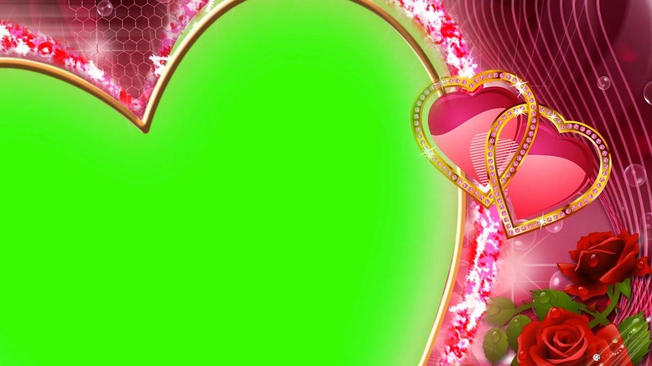 Heart Frame Wedding Footage Background Green Screen Effect | DMX HD BG 198