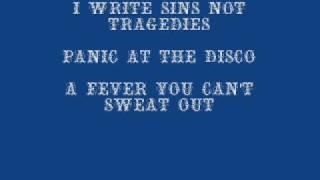 PATD I write sins, not tragedies