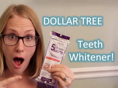 DOLLAR TREE TEETH WHITENER REVIEW!