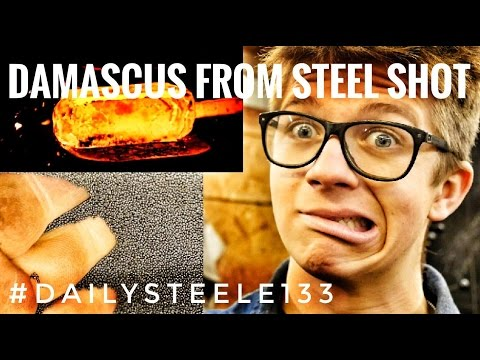 EXPERIMENT: Damascus Steel from Steel Shot!!!??