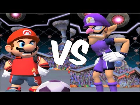 Super Mario Strikers - Mario vs Waluigi - GameCube Gameplay (720p60fps)