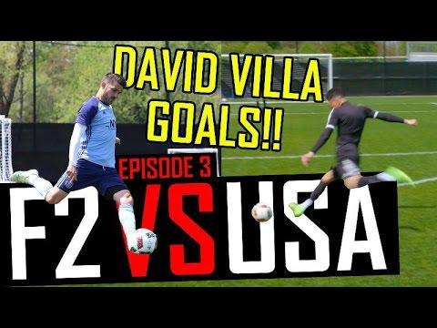 Shooting with David Villa | F2 VS USA