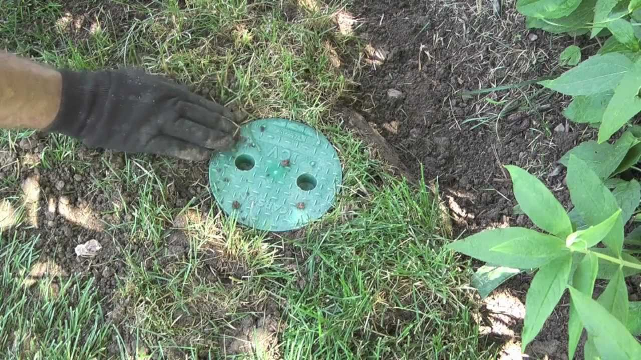 How To Replace A Sprinkler Valve Box Youtube