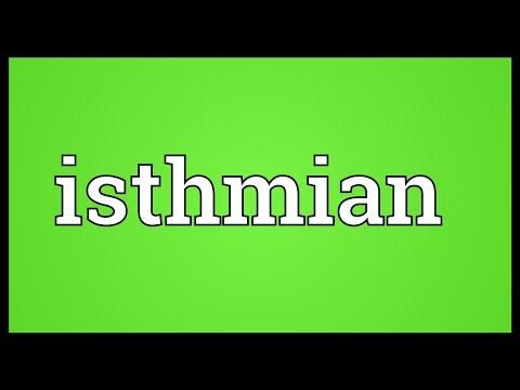 Header of isthmian