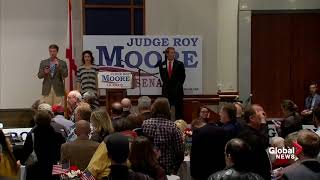 Song cut short at Roy Moore election headquarters after loss