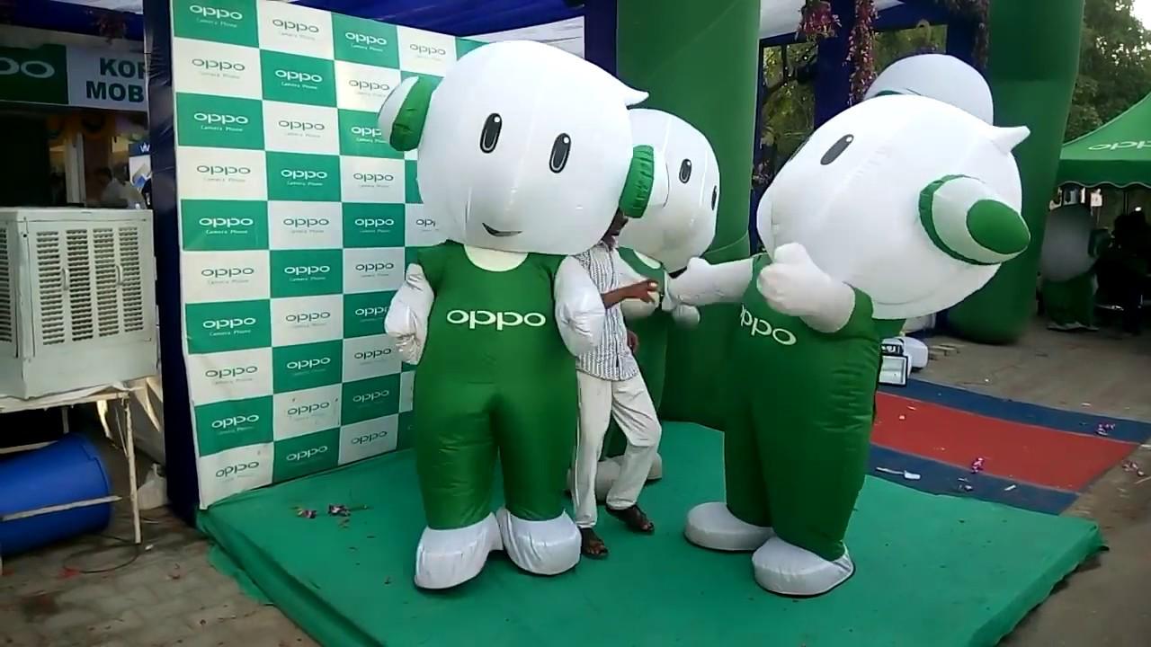 Funny Oppo Mascot Dance Bhavnagar - YouTube