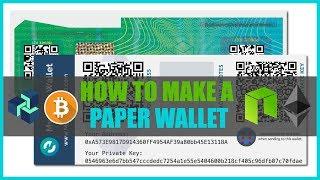 Cryptocurrency Paper Wallet Tutorial - ZenCash / Bitcoin / Ethereum / Neo Blockchain