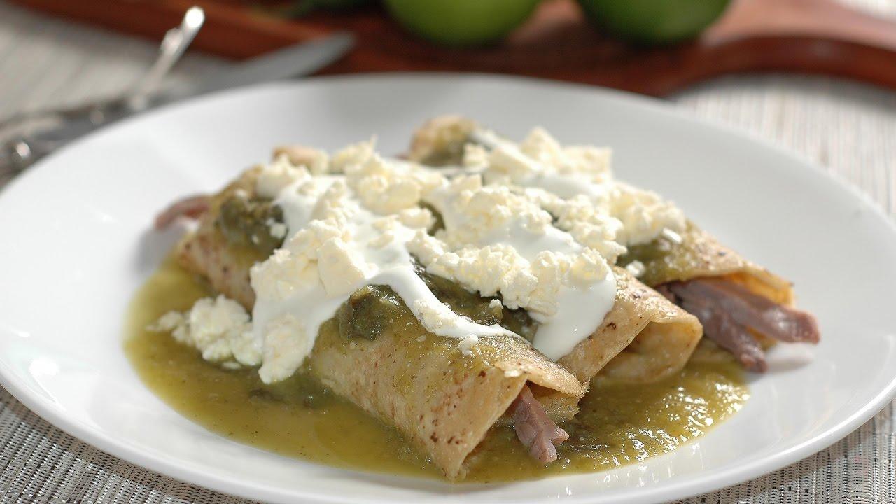Enchiladas verdes de cecina - Receta fácil y económica ...