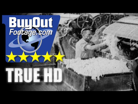 HD Historic Stock Footage - STORY OF ASBESTOS MINING AND MFG 1920s