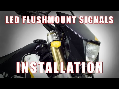 How to install LED Flushmount Signals on a Suzuki DRZ 400 S, SM by TST Industries