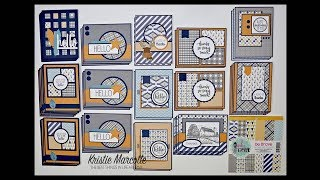 Pink & Main's Be Brave - 43 cards from one 6x6 paper pad