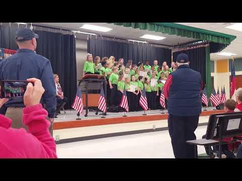 Adairsville Elementary School Chorus Veteran's Day 2018