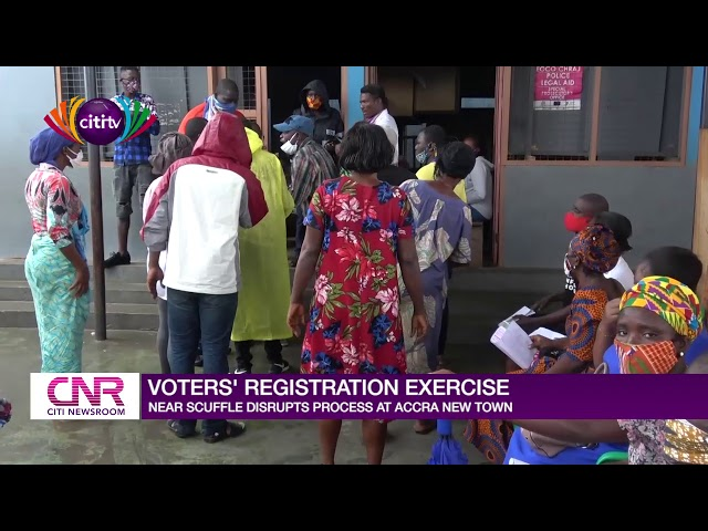 Voter Registration exercise at Accra New Town disrupted by scuffle