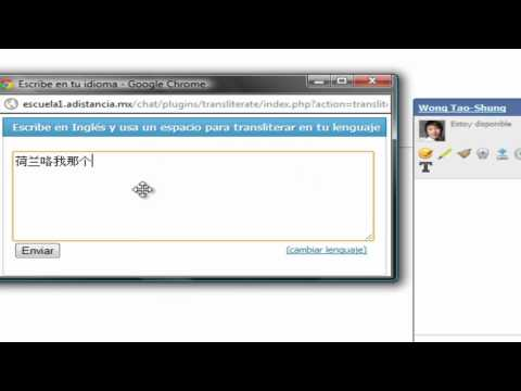 Feature: Traductor En Chat