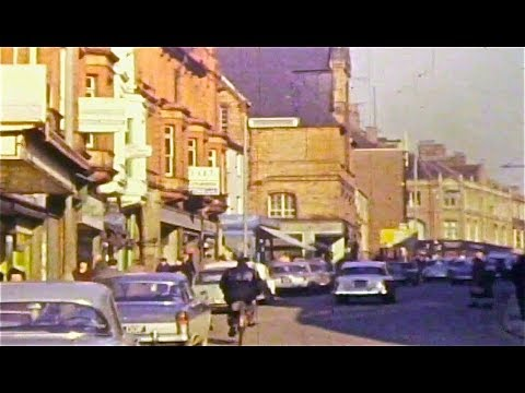 KETTERING TOWN CENTRE 1963 - RARE 8MM FILM FOOTAGE