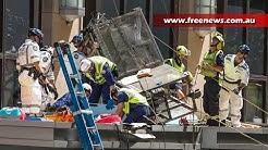 Window cleaners rescued after gantry collapse in Sydney CBD