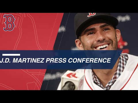J.D. Martinez is officially a member of the Red Sox