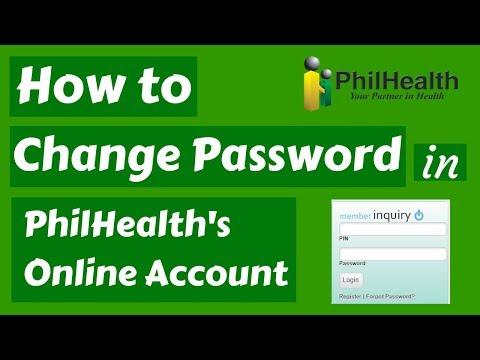 How To Change Password In PhilHealth's Online Account