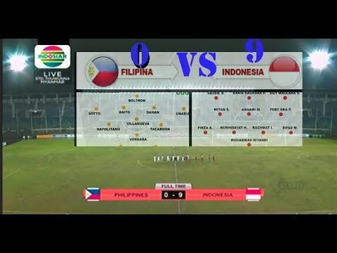 FILIPINA U18 VS INDONESIA U18 0-9 QUALIFIKASI AFF CUP 2017 [FULL MATCH]