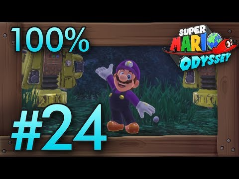 Super Mario Odyssey 100% Walkthrough Part 24 | Wooded #3 & Cloud Kingdom #2 (All Moons & Coins)