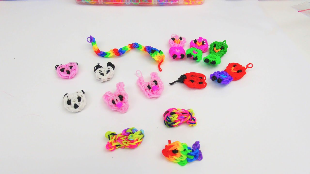 rainbow loom tiere anh nger charms alle loom band tiere. Black Bedroom Furniture Sets. Home Design Ideas