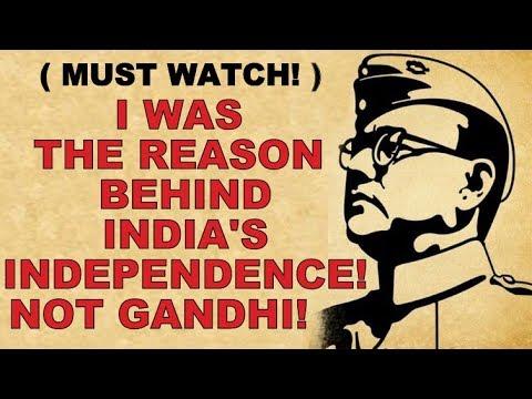 🔴 SHOCKING: NETAJI not GANDHI was the reason behind INDIA's INDEPENDENCE! MUST WATCH!!