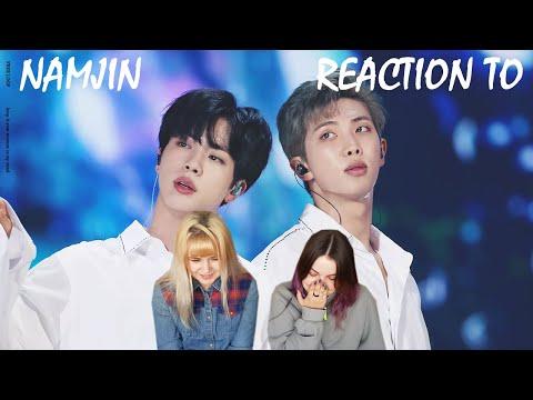 BTS NAMJIN REACTION [RM & JIN] BTS REACTION