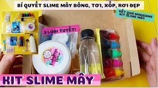 Bí Mật Cách làm Slime Mây Bông, Tơi Xốp, Rơi Đẹp Bộ KIT Slime Mây 112k