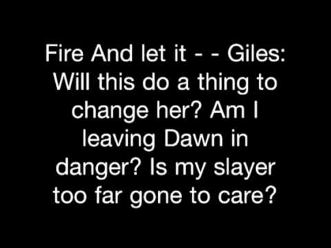 Buffy The Vampire Slayer - Walk Through The Fire - Lyrics