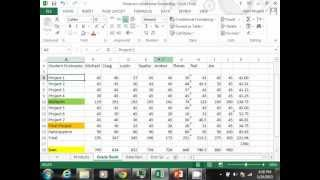 Excel 2013 Tutorial - Conditional formatting and data bars in MS Excel 2013