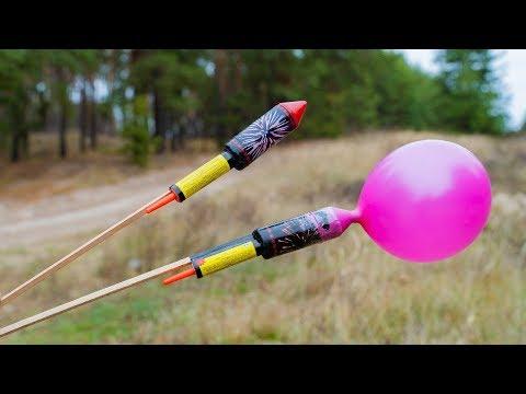 Experiment Flying Pepsi And XXL Rocket Ballon