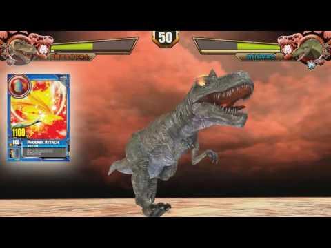 [T-REX]dinosaur card game-trex card ver.001-[magic card image]-water magic & fire magic