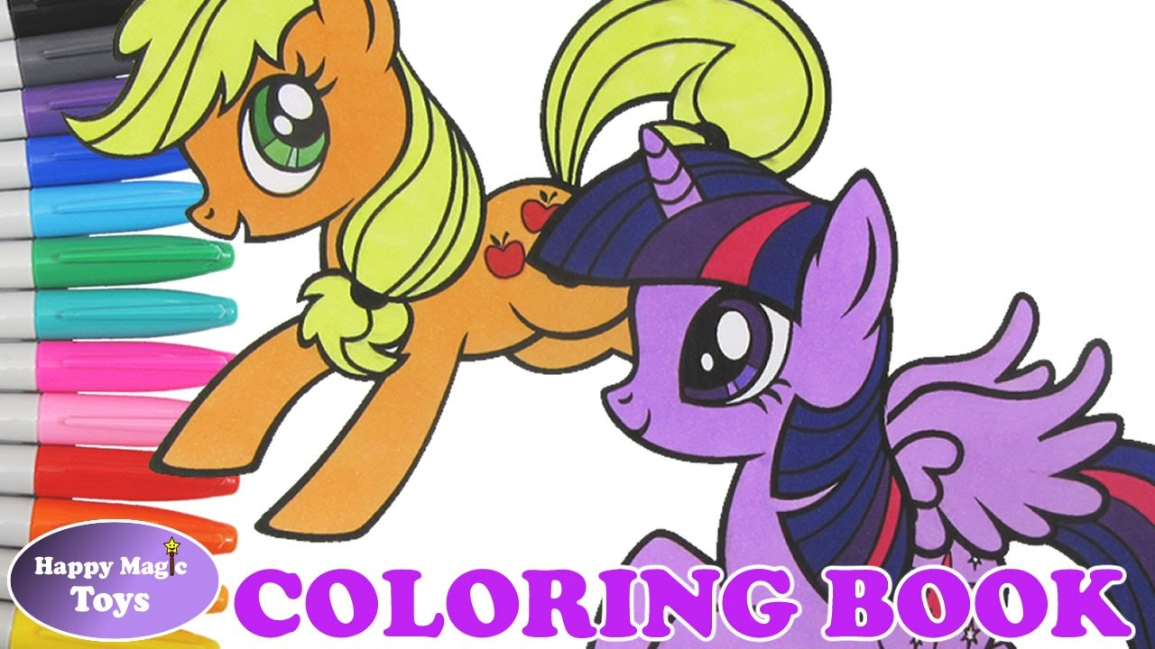 mlp applejack twilight sparkle coloring book my little pony