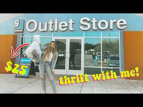 thrift with me at goodwill outlet! huge try-on thrift store haul