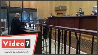 """بالفيديو..قاضى """"التخابر مع قطر"""" يسأل المدعى بالحق المدنى عن علاقة طلباته بالقضية"""